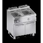 Friteuse électrique professionnelle 2 paniers 2x10L sur socle - Arredochef